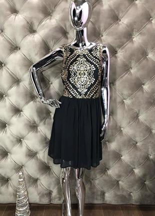 Коктельное платье в узор belle, размер м, 46