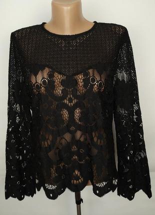 Блуза кружевная шикарная оригинал lipsy uk 14/42/l
