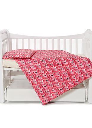 Детский комплект постельного белья с простынью на резинке Флам...
