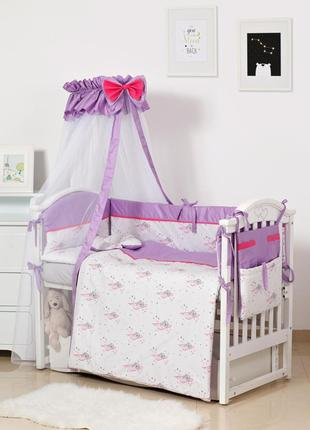 Постельний комплект в детскую кроватку хлопковый Мишки Twins M...