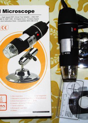 USB цифровой микроскоп MicroView 50-500Х с LED подсветкой, нов...