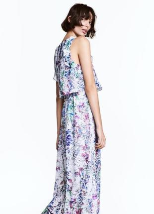 Нежное длинное платье h&m