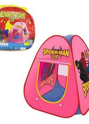 Детская игровая палатка для мальчика Metr+ Spider Man в сумке,...