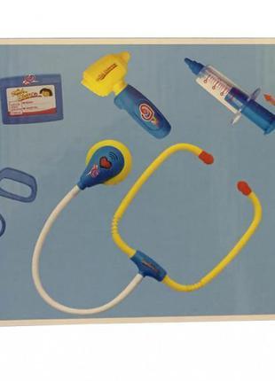 Детский набор доктора с халатом, 9 предметов, звуковые и свето...