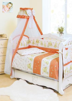 Детская постель для кроватки с балдахином Twins Standart Мишки...