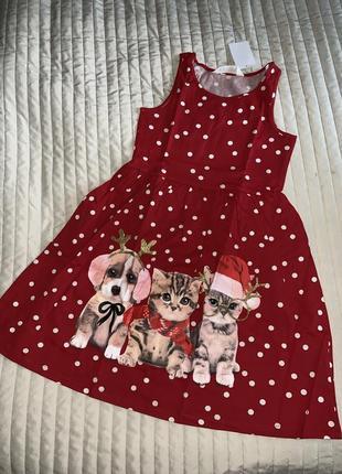 Новогоднее платье-сарафан h&m