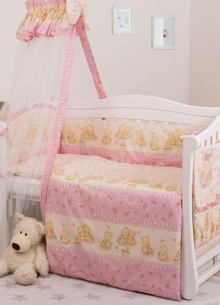Постель детская для кроватки с балдахином Twins Standart Мишки...