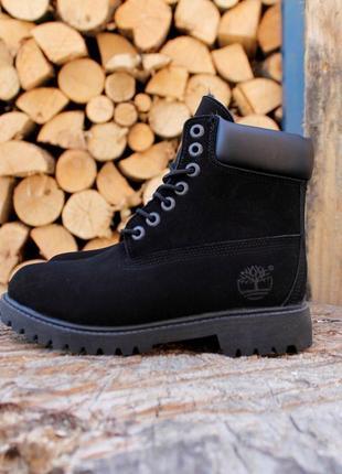 Зимние женские ботинки черные