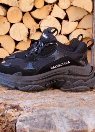 Черные кроссовки женские triple s