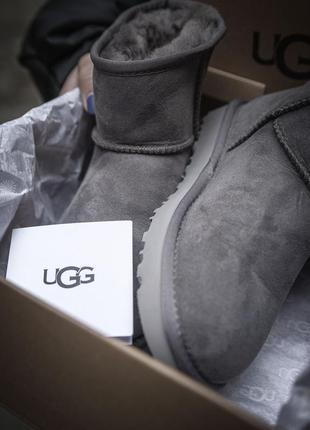 Угги classic mini ll grey