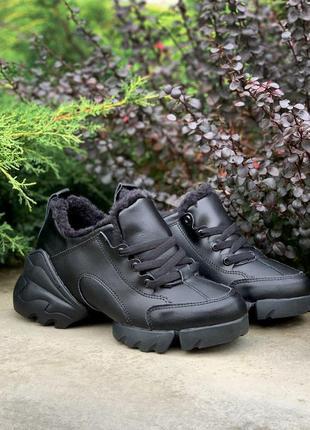 Шикарные зимние ботинки black