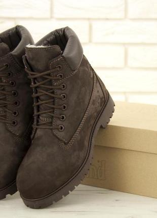 Мужские зимние ботинки timb (натуральные)