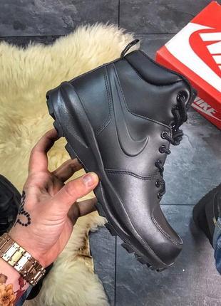 Ботинки мужские nike manoa leather black (original)