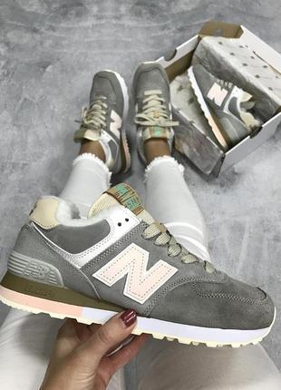 Шикарные кроссовки new balance (мех)