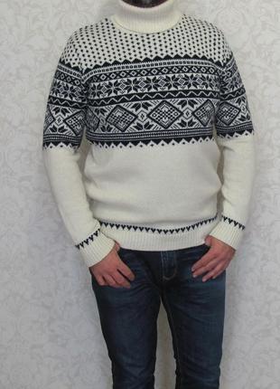 Мужской свитер woolovers, англия, шерсть