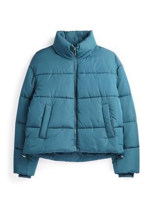 Куртка трендова, голуба, дута, пуховик.
