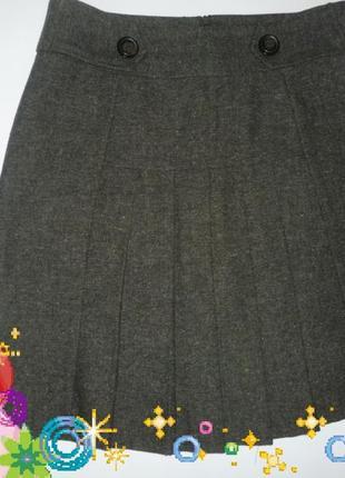 Элегантная  твидовая качественная юбка хороший размер