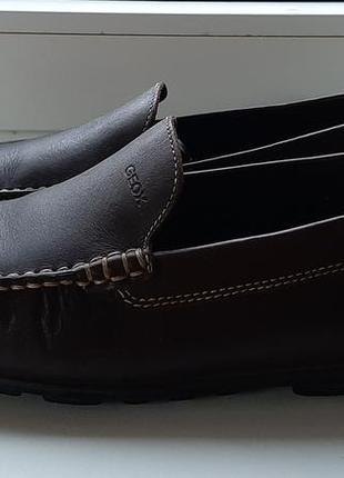 Стильные фирменные кожаные лоферы geox.