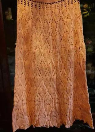 Вязаная летняя юбка в пол