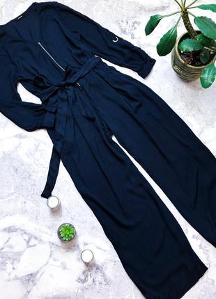 Крутой натуральный комбинезон брюки кюлоты