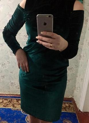 Платье бархат очень крутое