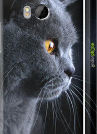 "Чехол на HTC One M8 dual sim Красивый кот ""3038c-55-2448"""