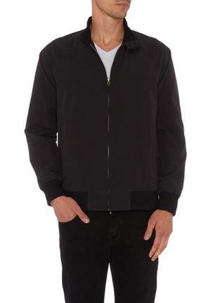 Тёмно-синяя мужская куртка бомбер на худого парня размера s