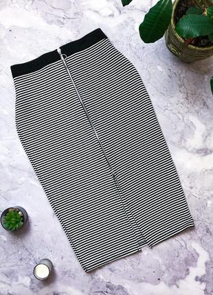 Крутая юбка миди карандаш с молнией