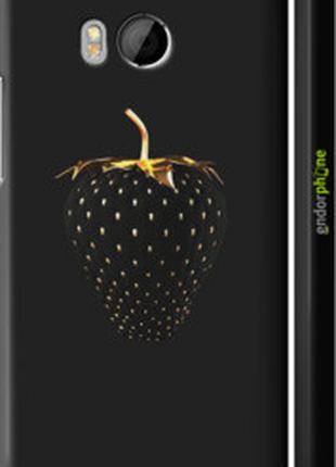 "Чехол на HTC One M8 dual sim Черная клубника ""3585c-55-2448"""