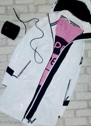 Новогодняя распродажа! лаковая куртка,плащ, дождевик,тренд вес...