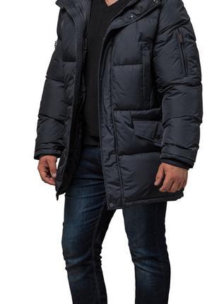 Куртка Braggart мужская зимняя большого размера удлиненная с к...