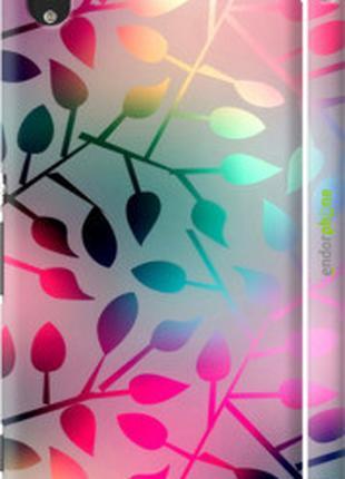 "Чехол на Sony Xperia M4 Aqua E2312 Листья ""2235c-162-2448"""