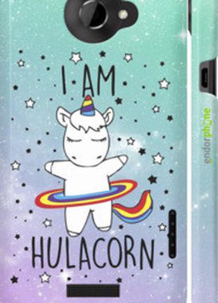 """Чехол на HTC One X I'm hulacorn """"3976c-42-2448"""""""