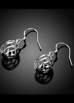 🏵красивые стильные серьги в серебре 925, новые! арт. 9386