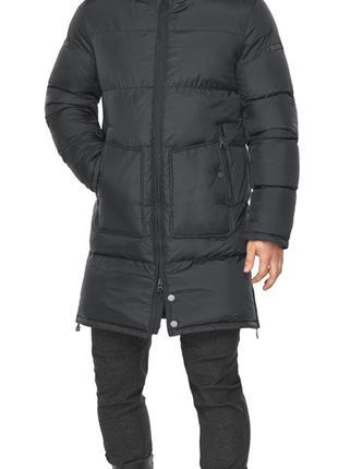 Зимняя куртка мужская с накладными карманами графитовая модель...