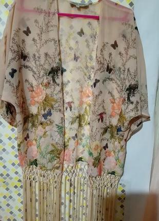 Стильная блуза ,накидка,туника с китицами parisian collection