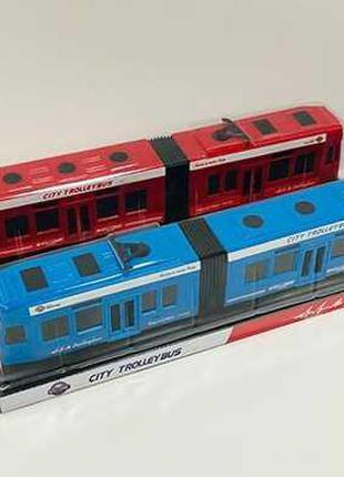 Трамвай 2 цвета, в слюде /84-2/