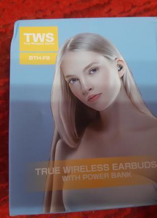TWS blutooth наушники вкладыши сенсорные