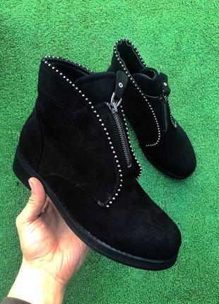 Ботинки - зимние с мехом р-128
