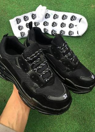 Кроссовки - в стиле balenciaga (черные)