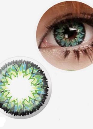 Линзы цветные для глаз фейерверк
