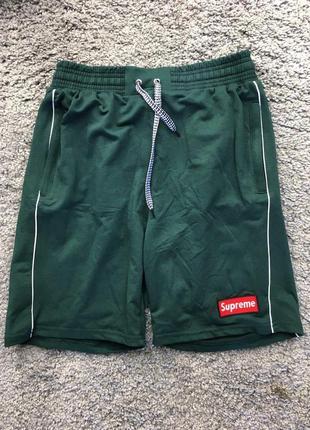 Мужские шорты - в стиле supreme (зеленые)