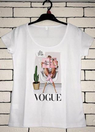 Женская футболка с принтом, футболка с рисунком - журнал