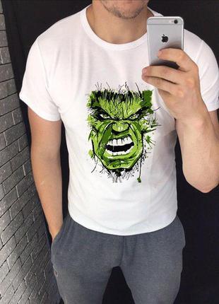 Мужская футболка с принтом - халк, футболка с рисунком