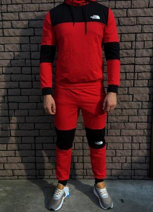 Мужской спортивный костюм - в стиле north face (красный)