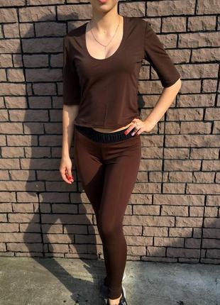 Женский спортивный костюм - коричневый