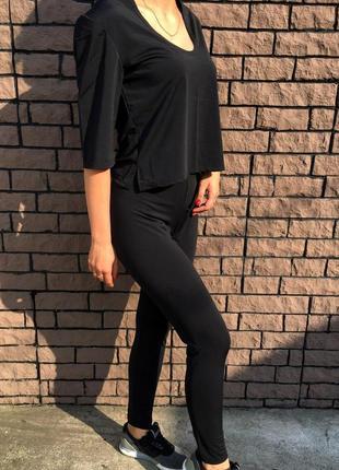 Женский спортивный костюм - чёрный