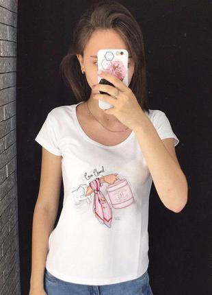 Женская футболка с принтом - сумочка, футболка с рисунком
