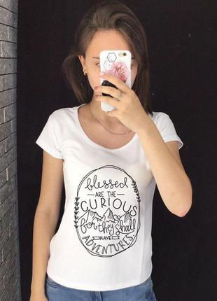 Женская футболка с принтом - футболка с надписью, футболка с р...