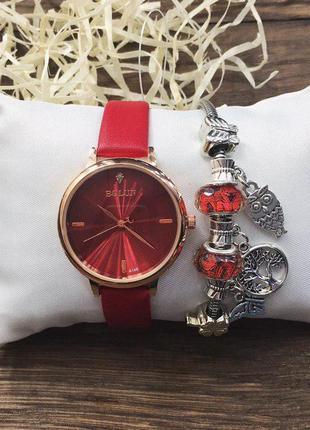 Наручные часы - в стиле bolun (красные)